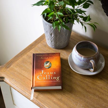 Jesus Calling lifestyle photo of book on table