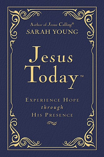 Book cover image of Jesus Today Deluxe Edition by Sarah Young.