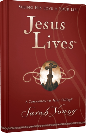 Book cover image of Jesus Lives by Sarah Young.