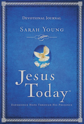 Book cover image of Jesus Today Devotional by Sarah Young.
