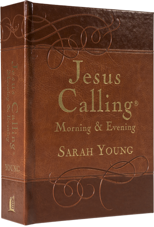 Book cover image of Jesus Calling Morning and Evening devotional by Sarah Young.
