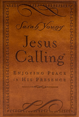 Book cover image of Jesus Calling deluxe brown cover by Sarah Young.