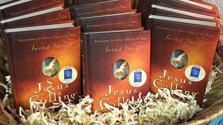 basket of Jesus Calling books