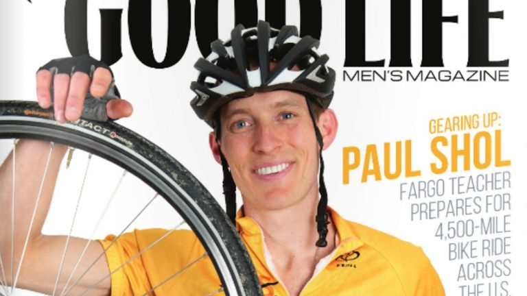 Paul Shol on the cover of Good Life magazine