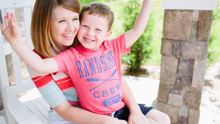 Emily Ley and son