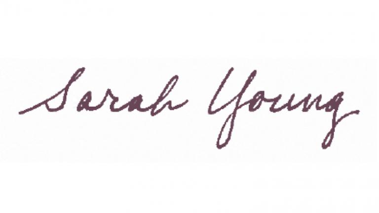 Sarah Young signature
