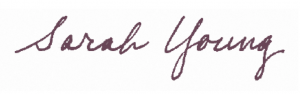 Photo of Sarah Young's Signature