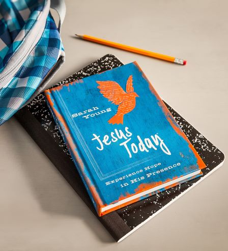 Jesus Today with teen cover on notebook with backpack
