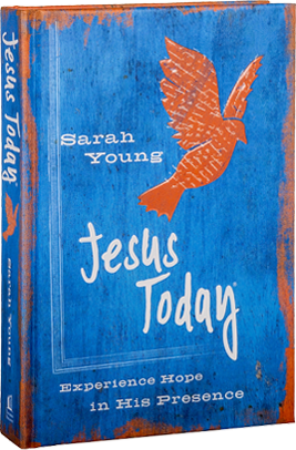 3D Book cover for Jesus Today by Sarah Young.