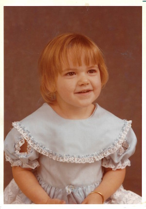 Amy Parker's childhood school picture.