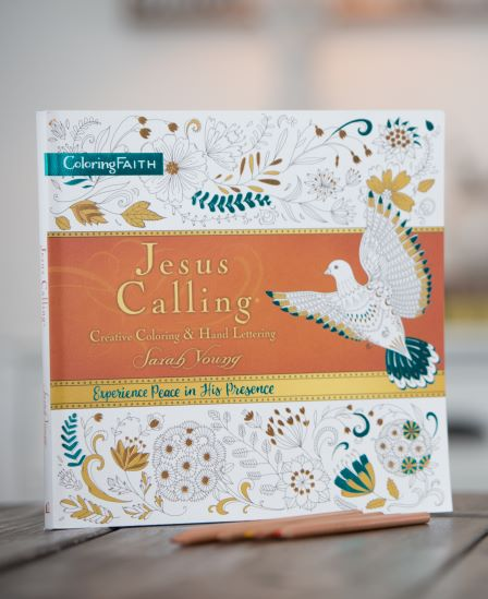 Jesus Calling coloring book with pencils