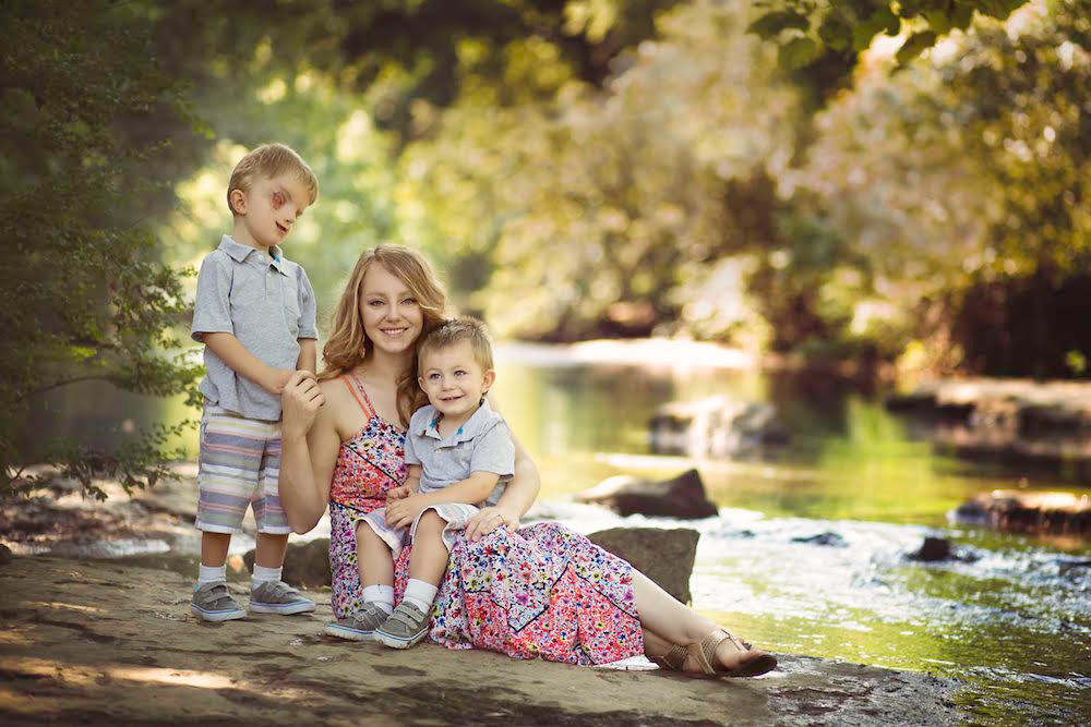 Lacey Buchanan and her two sons.