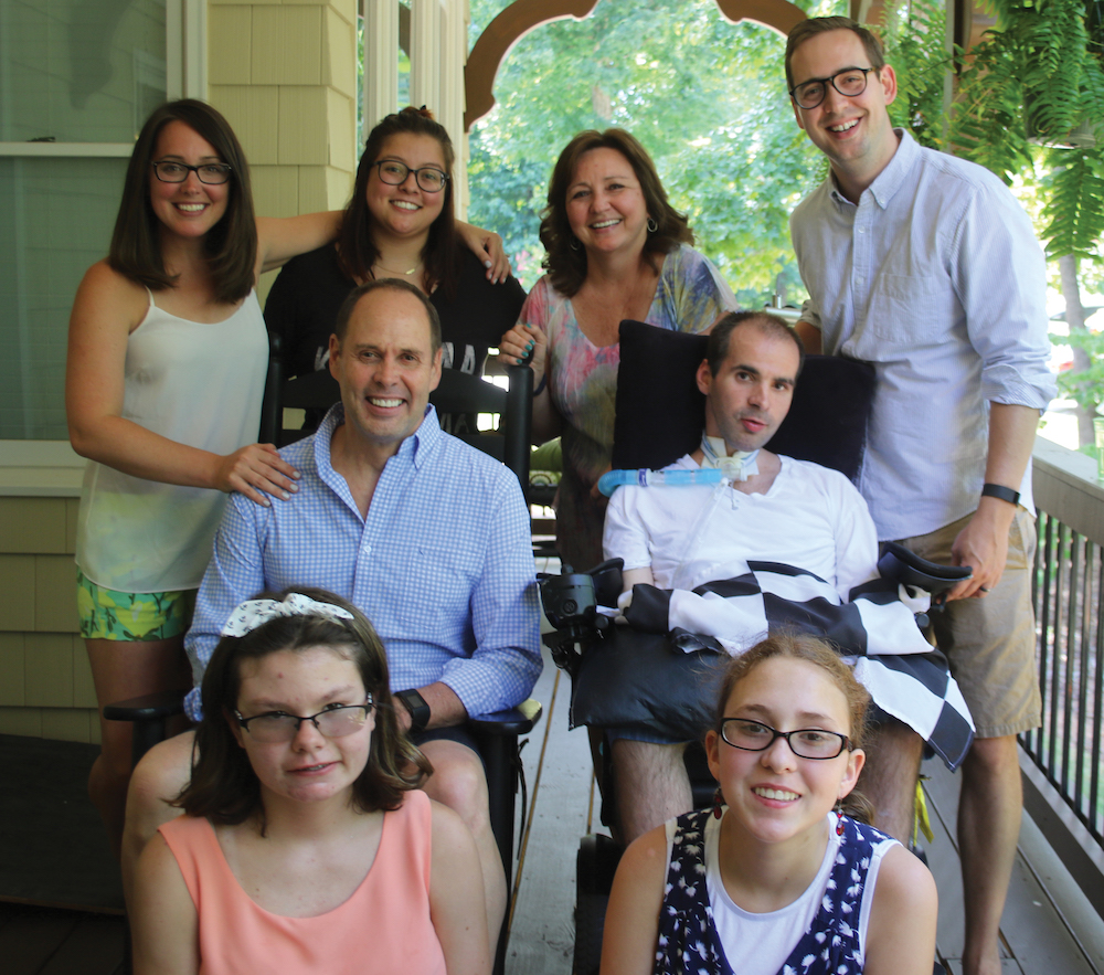 Ernie Johnson, Jr. and his family on Father's Day.