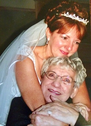 Cheryl Karpen with her mother.