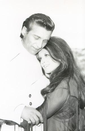 Jessi Colter with her husband, Waylon Jennings.