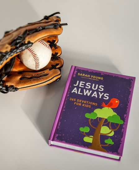 Jesus Always for KIds with ball and mit