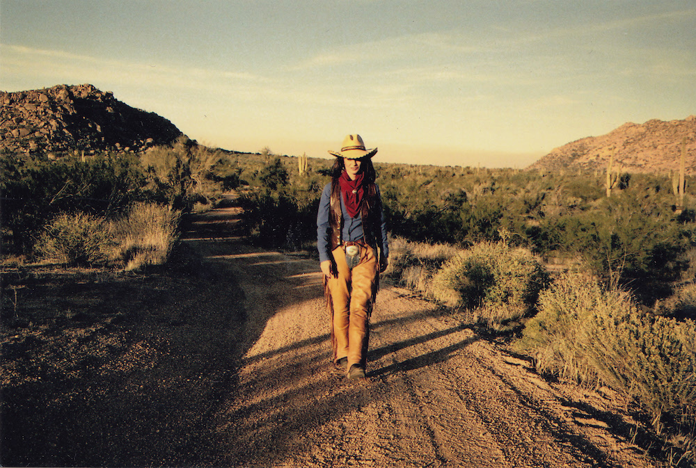 Jessi Colter walking the landscape of her beloved Arizona during a photo shoot for 'Out of the Ashes'.