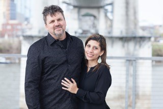 Brett Swayn and his wife Merari.