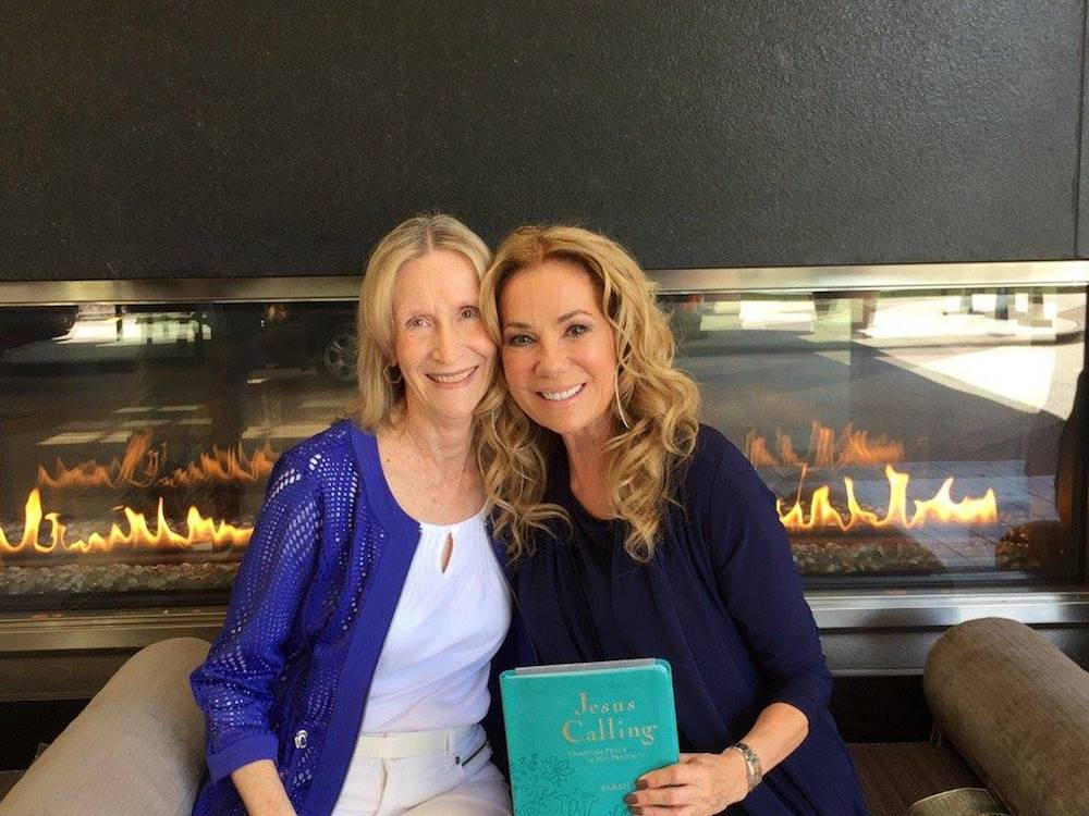 Kathy Lee with Jesus Calling author Sarah Young.
