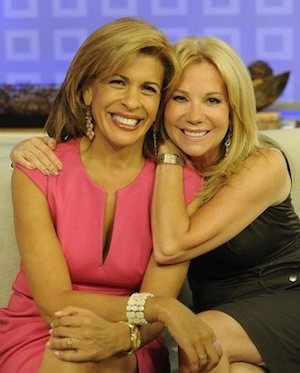 Kathy Lee with her cohost on the Today Show.
