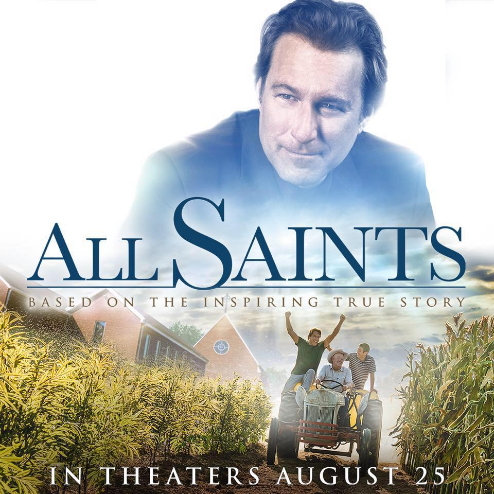 """A movie poster for the PureFlix film, """"All Saints""""."""