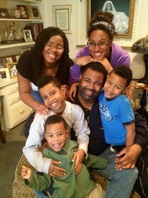 Chrystal Evans Hurst with her family.