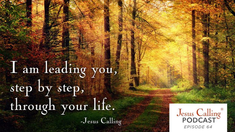 """""""I am leading you, step by step, through your life."""" - Jesus Calling Podcast Episode 64"""