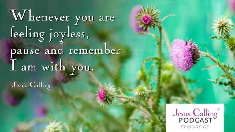 Whenever you are feeling joyless, pause and remember I am with you.