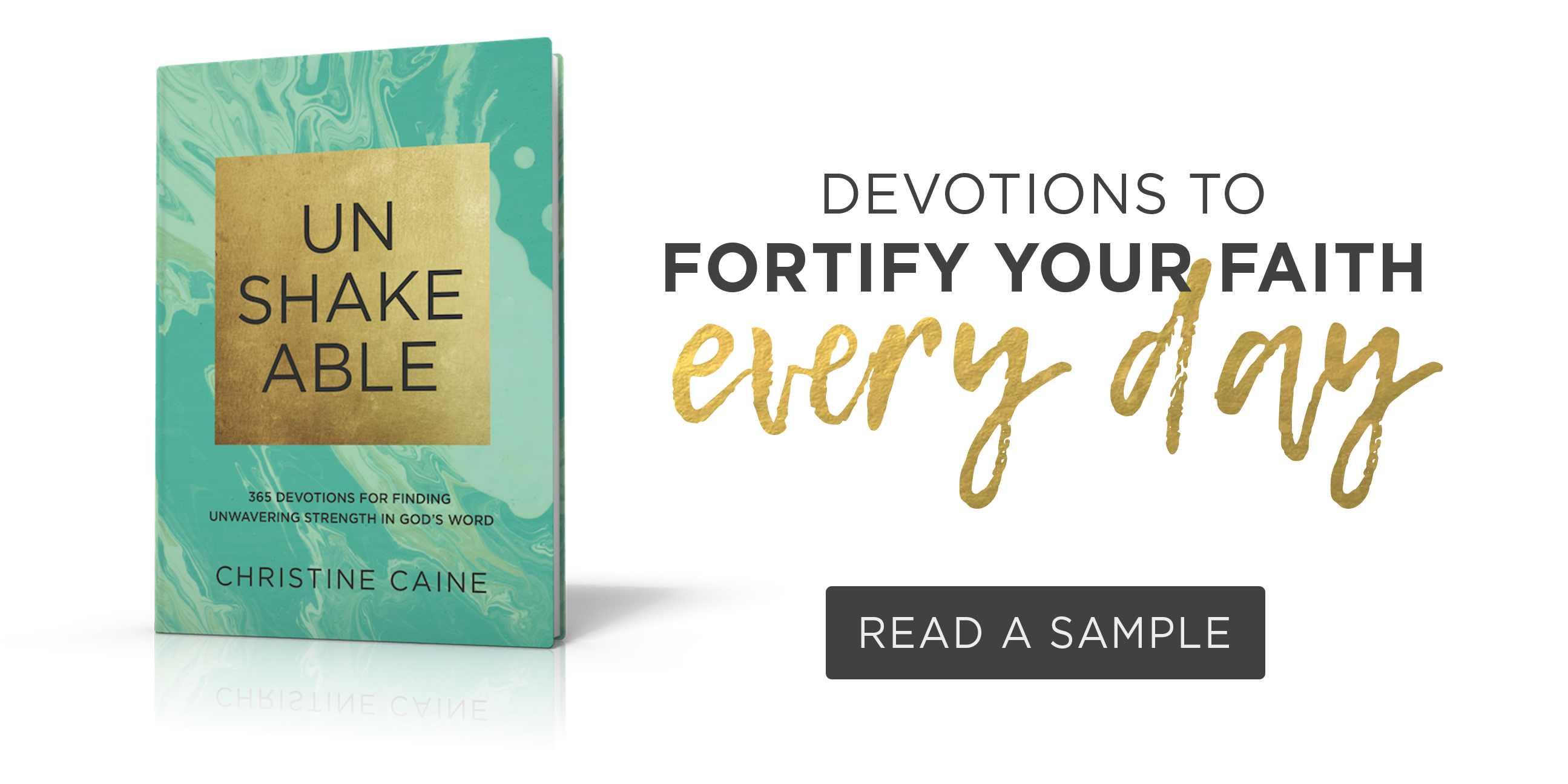 Unshakeable by Christine Caine.