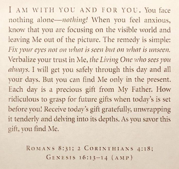 Shannon Rozenburg's favorite passage from Jesus Calling.