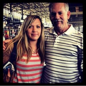 Shannon Rozenburg with her dad.