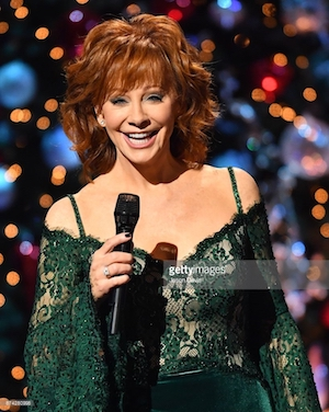 Reba McEntire on the CMA Christmas show.