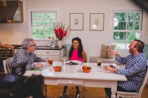 Nicole C Mullen taping of Dinner Conversations with Mark Lowry and Andrew Greer