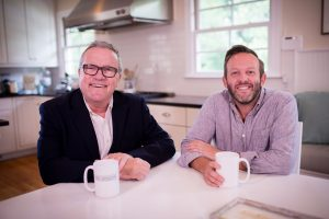 Mark Lowry and Andrew Greer, Dinner Conversations video podcast set