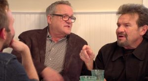 Mark Lowry and Russ Taff on Dinner Conversations video podcast set