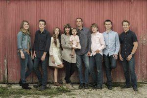 Ann Voskamp & family photograph for the Jesus Calling podcast