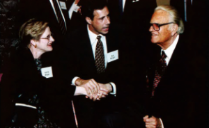 Pastor Rob Morgan and his wife (Katrina) meeting Billy Graham
