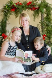 Emily G. Stroud with her children (Jesus Calling podcast)