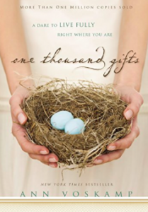 Ann Voskamp - One Thousand Gifts book cover (Jesus Calling podcast)