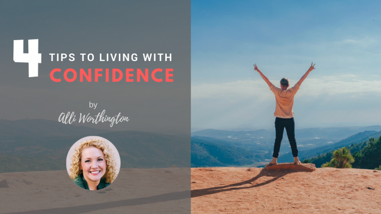 Living with Confidence Jesus Calling blog