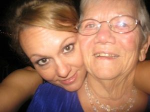 Erin Lundmark and her grandmother
