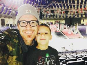 Ryan Stevenson and son