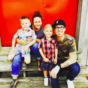 Ryan Stevenson and family