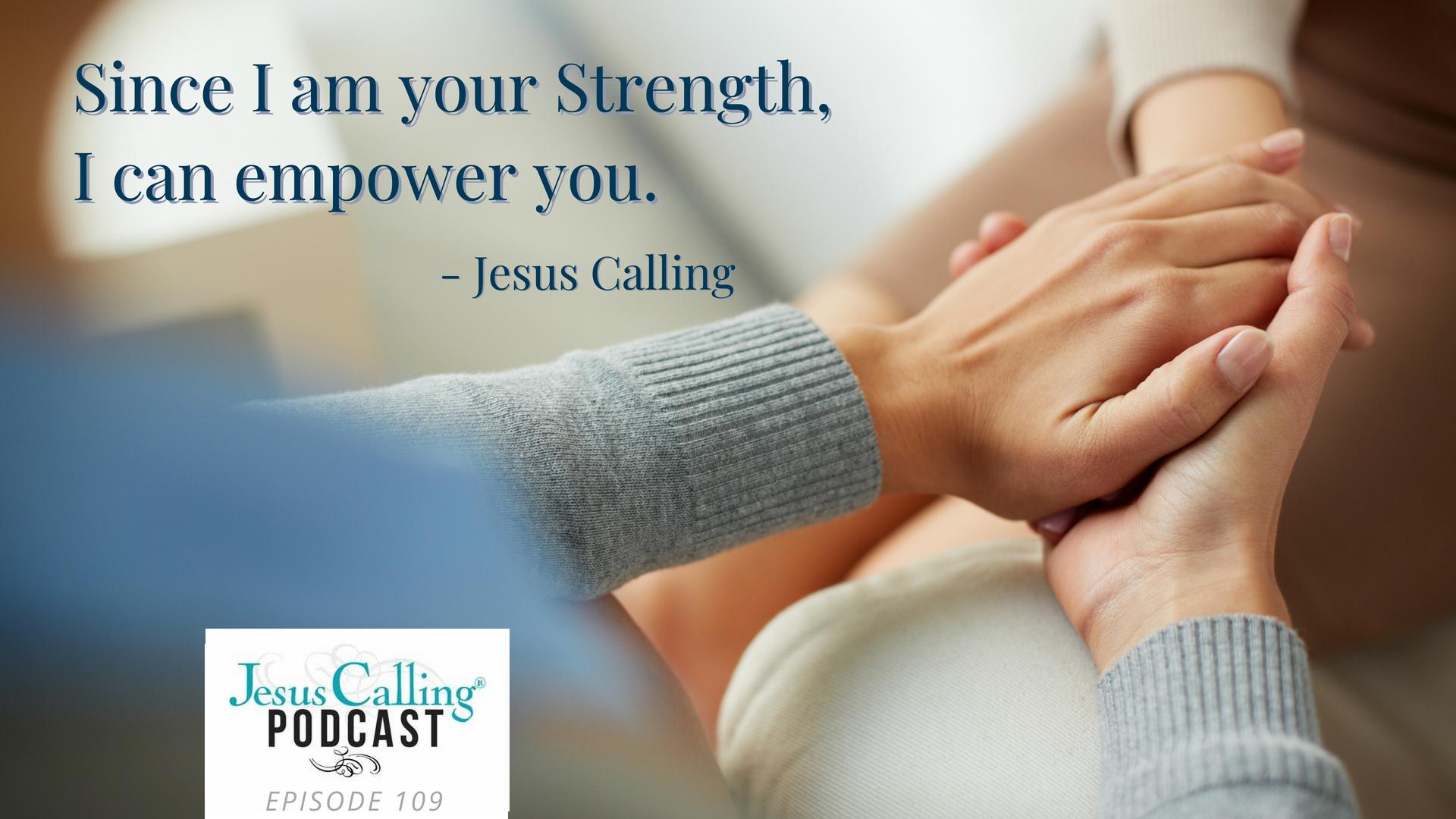 Jesus Calling podcast #109 featuring Scott Hamilton & Rhonda Hodge