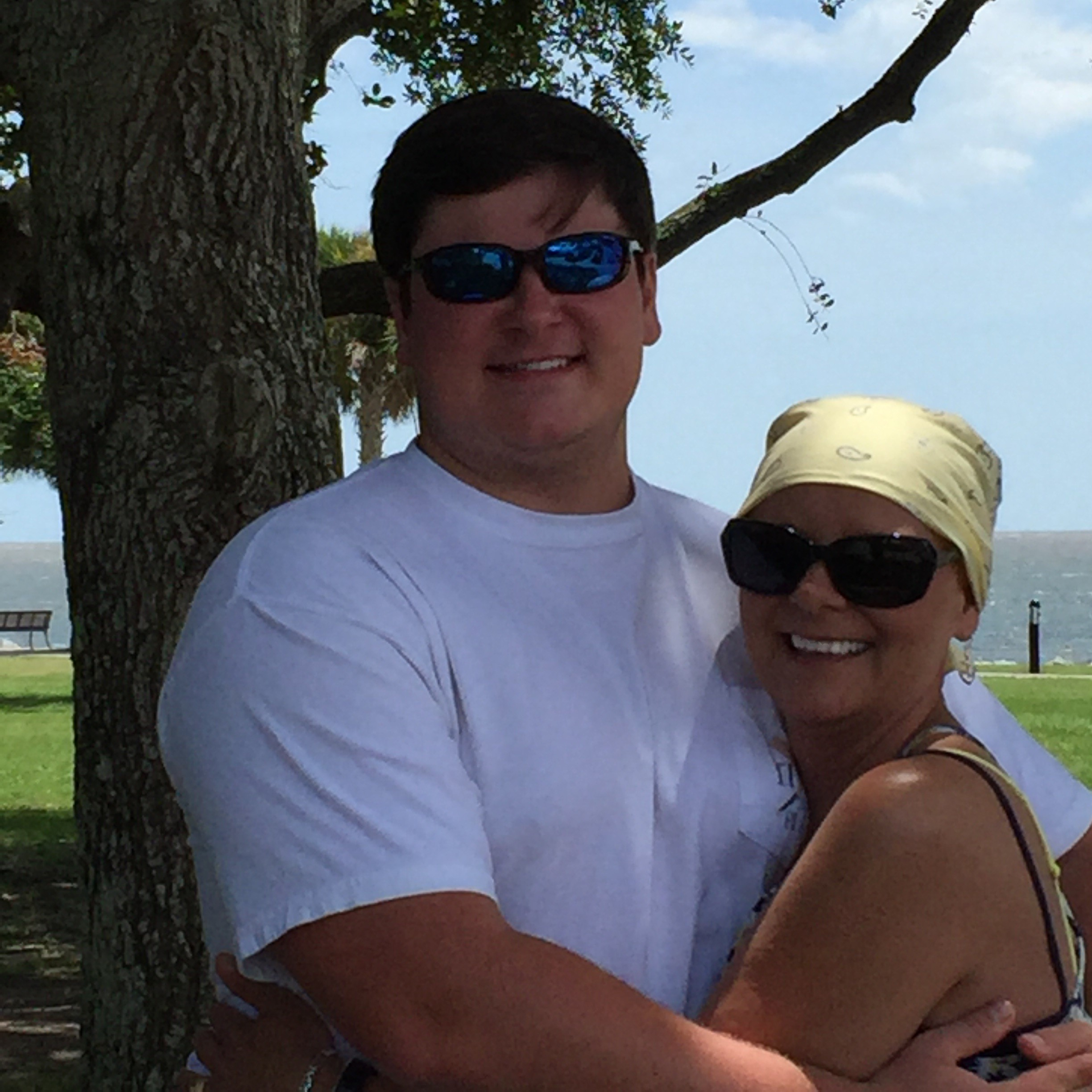 Rhonda Hodge and her son as featured on the Jesus Calling podcast