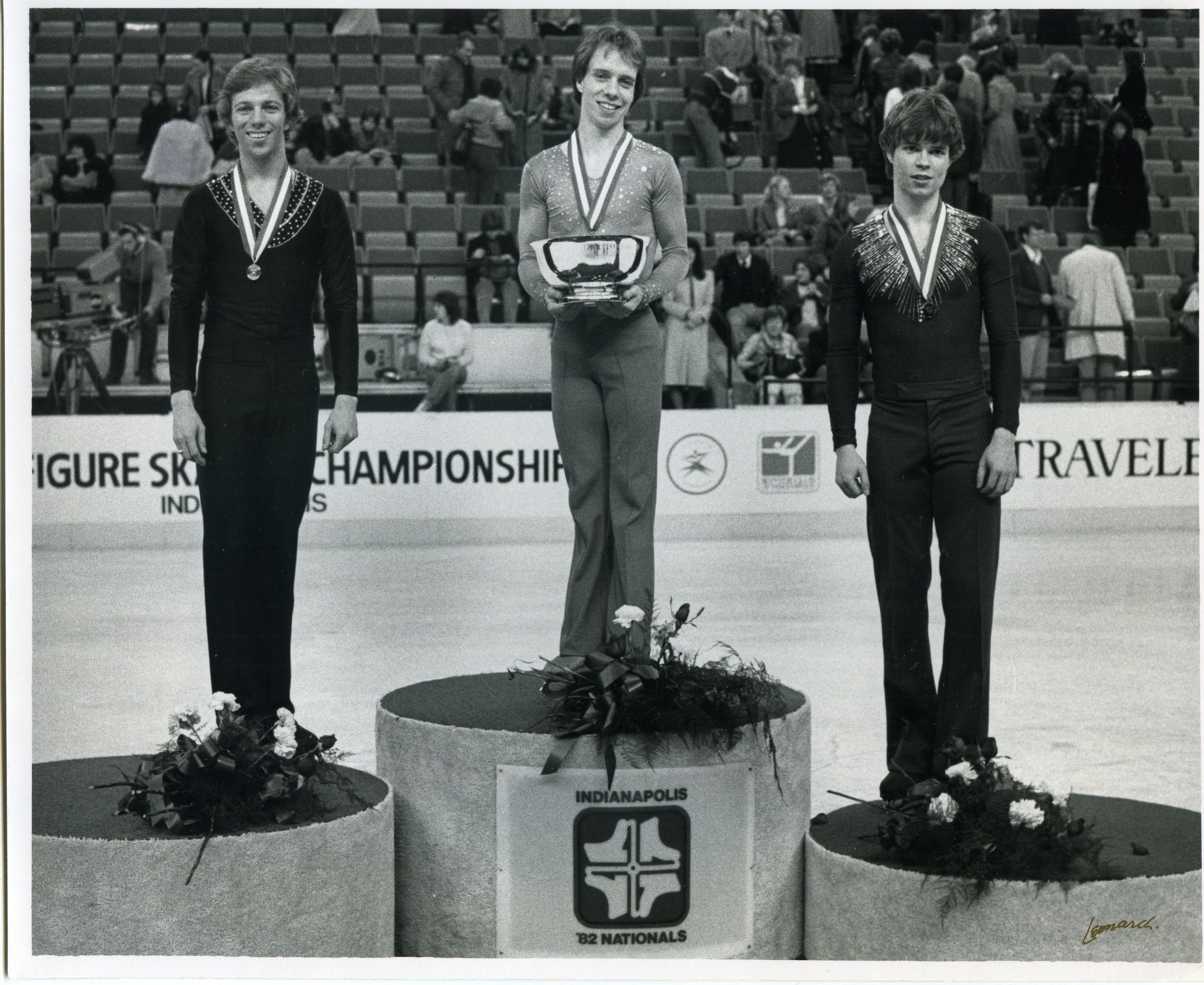 Scott Hamilton at 1982 Nationsl Podium image