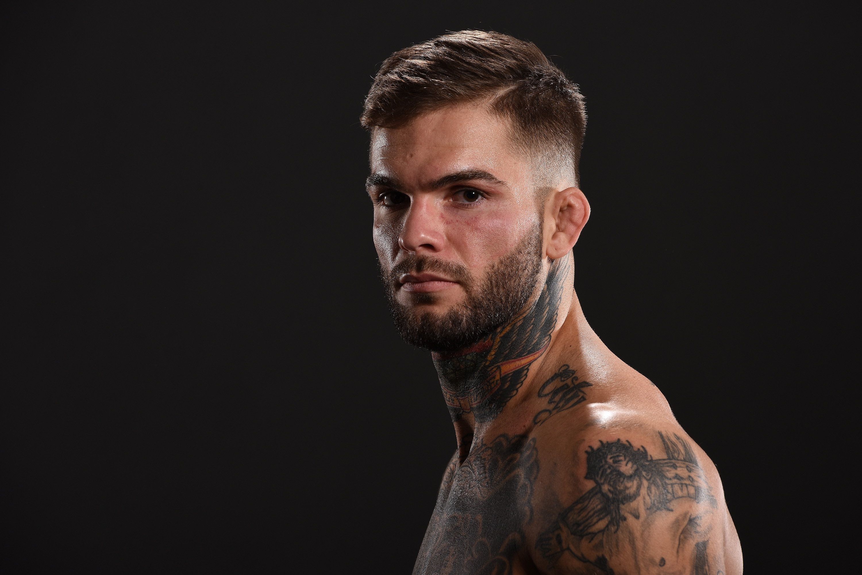 LAS VEGAS, NEVADA - MAY 29: Cody Garbrandt poses for a post fight portrait backstage during the UFC Fight Night Event inside the Mandalay Bay Events Center on May 29, 2016 in Las Vegas Nevada. (Photo by Mike Roach/Zuffa LLC/Zuffa LLC via Getty Images)