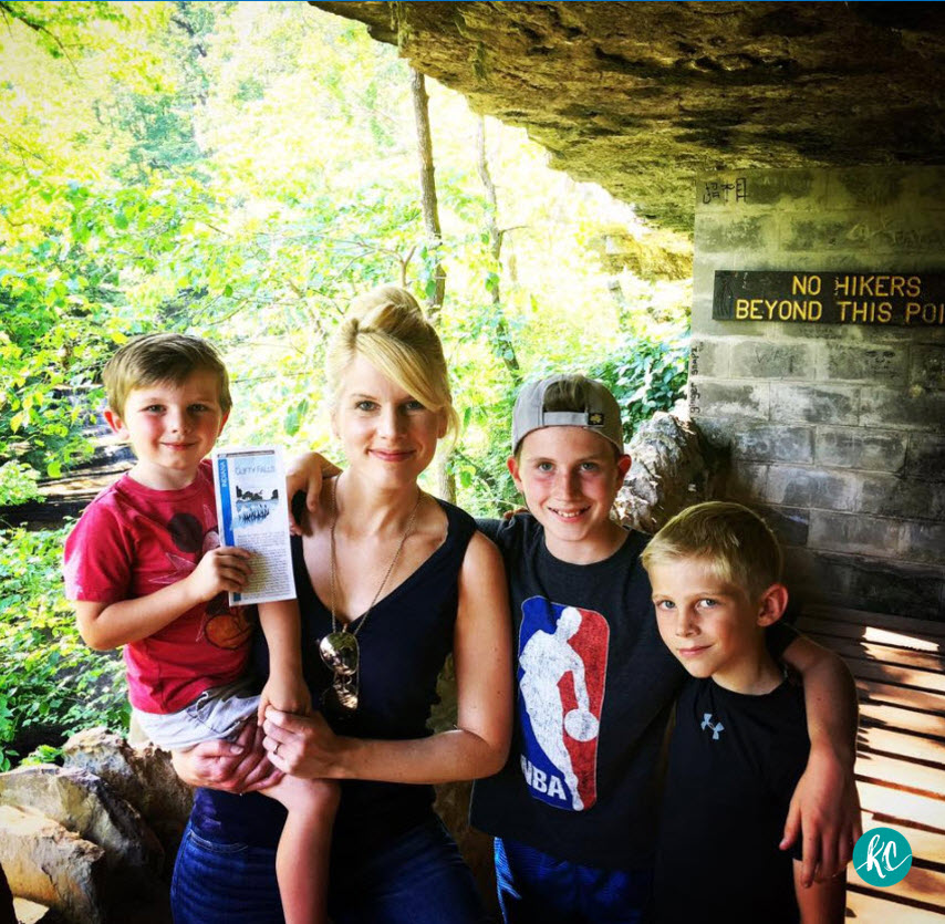 Christian fiction author, Kristy Cambron and her children