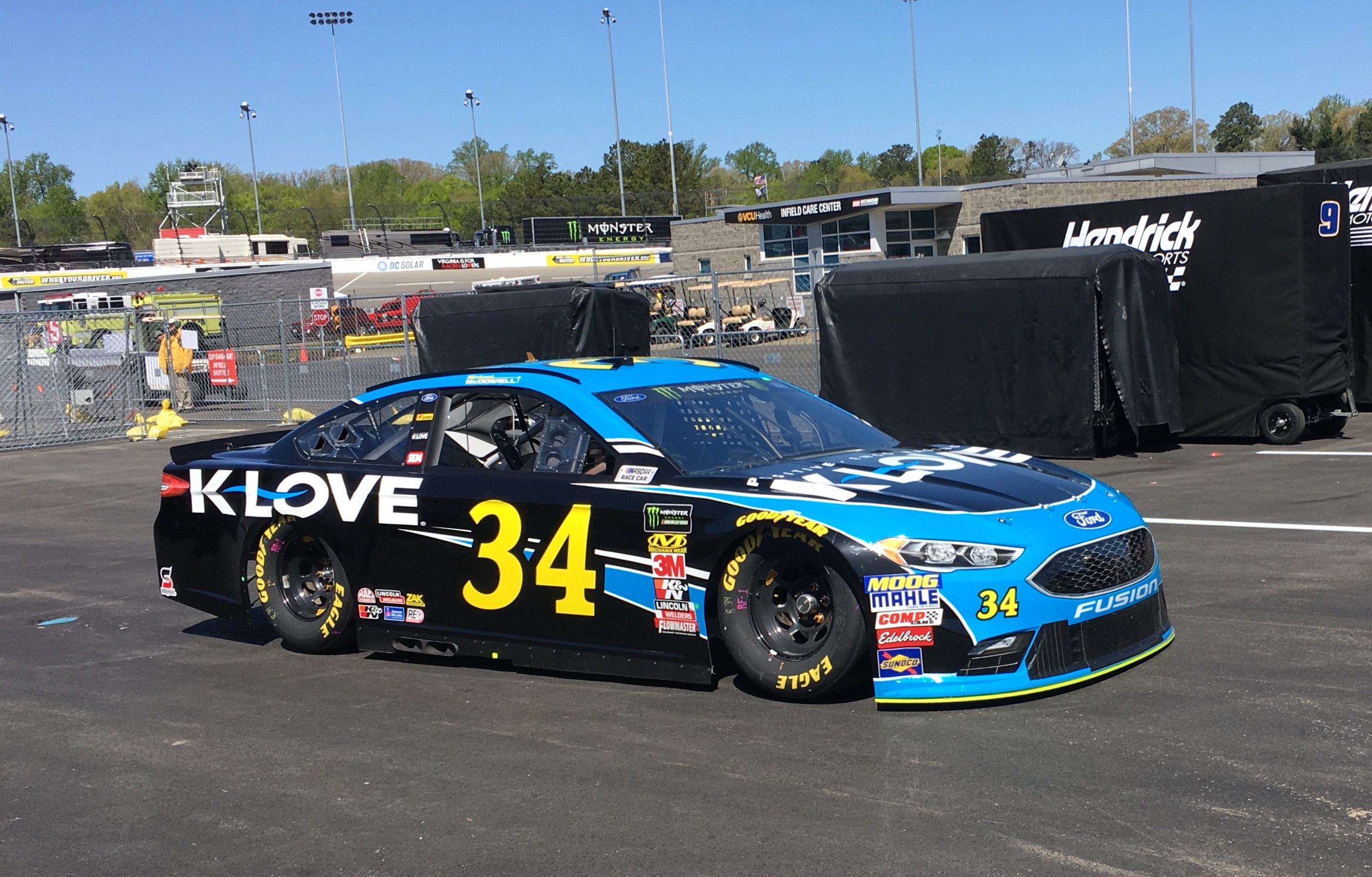 Michael McDowell - NASCAR - K Love #34 as featured on Jesus Calling podcast
