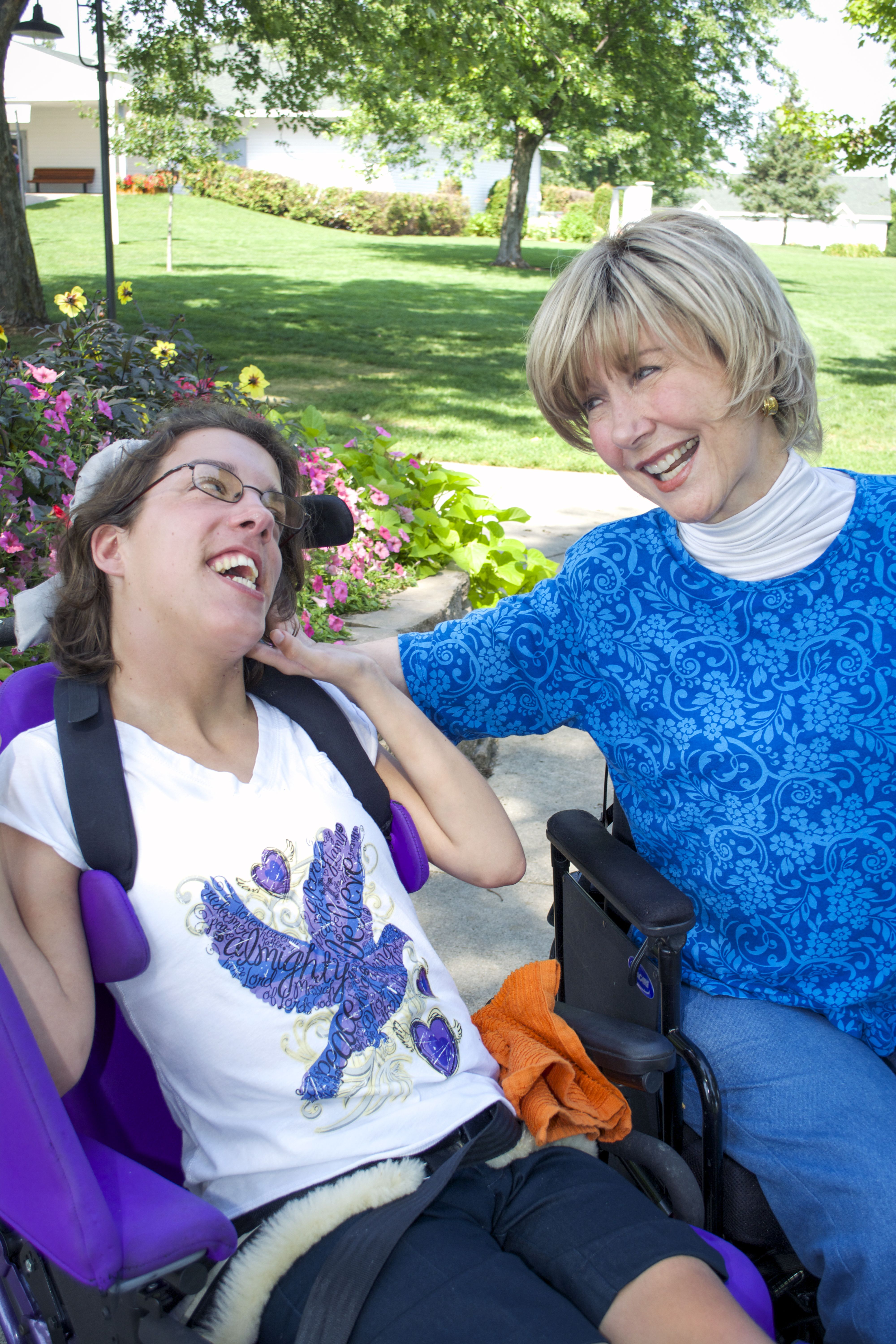 Joni Eareckson Tada and a friend